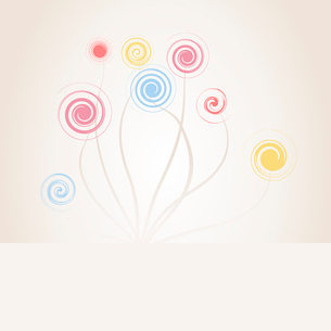 Spiral flower. Abstract drawing of flowers of spirals. A vector illustrationのイラスト素材 [FYI03087428]