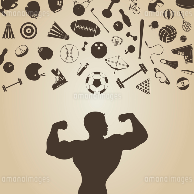 On the sportsman sports stock fall. A vector illustrationのイラスト素材 [FYI03087429]