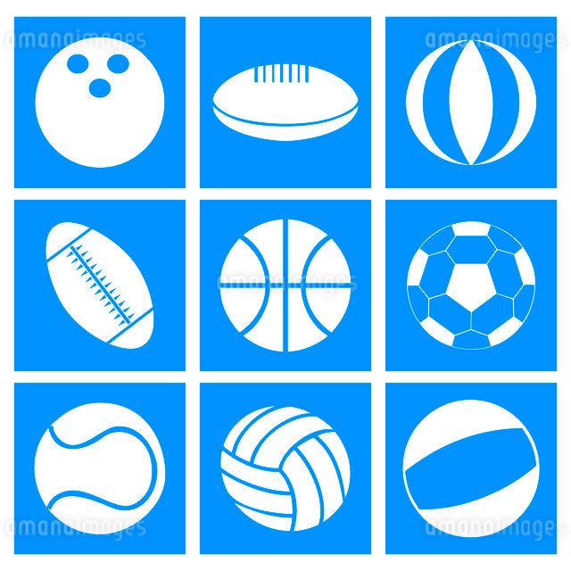 Sports balls. Set of balls for different kinds of sports. A vector illustrationのイラスト素材 [FYI03087430]