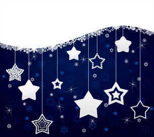 Star background. Dark blue background from white stars. A vector illustrationのイラスト素材 [FYI03087457]
