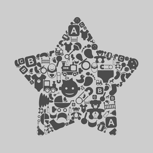 Star made from baby. A vector illustrationのイラスト素材 [FYI03087458]