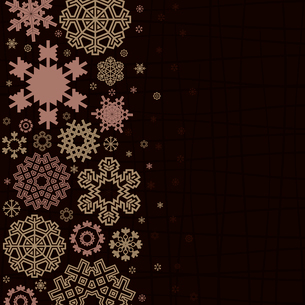 Brown background from snowflakes. A vector illustrationのイラスト素材 [FYI03087475]