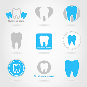 Set of icons of a teeth. A vector illustrationのイラスト素材 [FYI03087568]