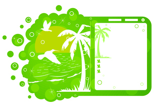 Tourist site. Preparation of a site for tourism. A vector illustrationのイラスト素材 [FYI03087571]