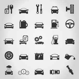 Set of icons transport. A vector illustrationのイラスト素材 [FYI03087583]