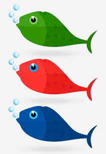 Whale2. Icon of fish in three variants. A vector illustration the greyのイラスト素材 [FYI03087737]
