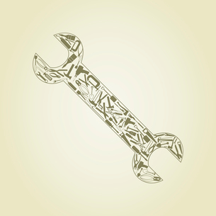 Wrench. Wrench collected from tools. A vector illustrationのイラスト素材 [FYI03087818]