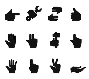 Set of icons a hand of the person. A vector illustrationのイラスト素材 [FYI03087829]