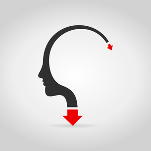 The arrow goes heads. A vector illustrationのイラスト素材 [FYI03087834]