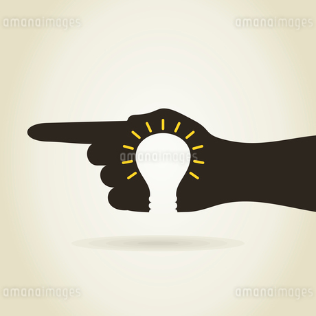 Bulb in a hand. A vector illustrationのイラスト素材 [FYI03087853]