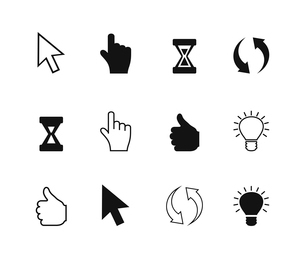 Set of icons the cursor. A vector illustrationのイラスト素材 [FYI03087866]