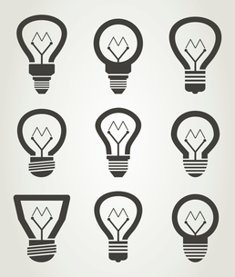 Set of icons of bulbs. A vector illustrationのイラスト素材 [FYI03087929]