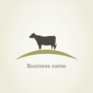 Cow in the field. A vector illustrationのイラスト素材 [FYI03087961]