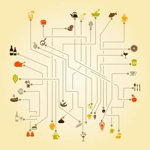 The scheme food. A vector illustrationのイラスト素材 [FYI03087965]