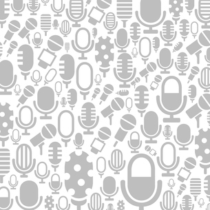 Background made of a microphone. A vector illustrationのイラスト素材 [FYI03087986]