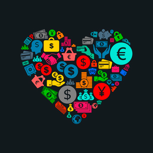 Heart made of business. A vector illustrationのイラスト素材 [FYI03088012]