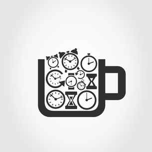 Cup filled with hours. A vector illustrationのイラスト素材 [FYI03088023]