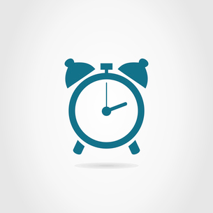 Alarm clock on a grey background. A vector illustrationのイラスト素材 [FYI03088093]
