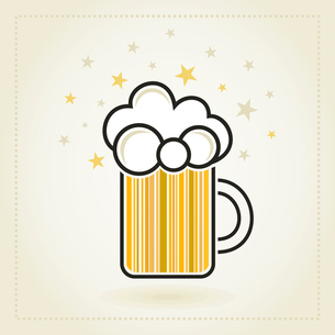 Sign on a circle of beer. A vector illustrationのイラスト素材 [FYI03088317]