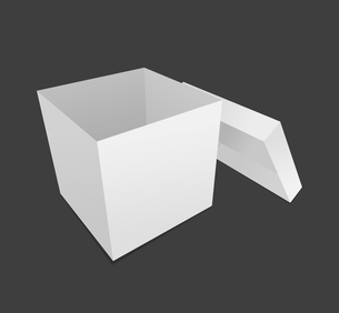 Box. Empty box on a grey background. A vector illustrationのイラスト素材 [FYI03088447]