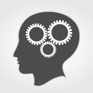 Brain2. Gear wheels turn in a head. A vector illustrationのイラスト素材 [FYI03088449]