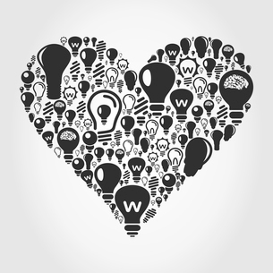 Heart made of bulbs. A vector illustrationのイラスト素材 [FYI03088474]