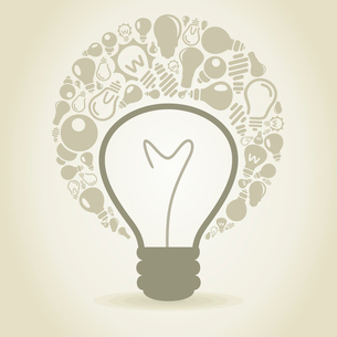 Small bulbs round a bulb. A vector illustrationのイラスト素材 [FYI03088482]