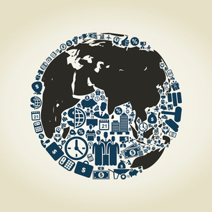 Planet made of business of subjects. A vector illustrationのイラスト素材 [FYI03088508]