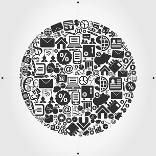 Sphere from business of subjects. A vector illustrationのイラスト素材 [FYI03088512]