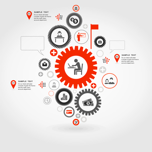 Business a gear wheel abstraction. A vector illustrationのイラスト素材 [FYI03088516]