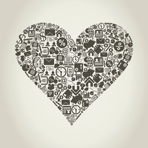 Heart from business subjects. A vector illustrationのイラスト素材 [FYI03088519]