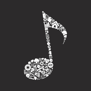 The musical note made of business. A vector illustrationのイラスト素材 [FYI03088528]