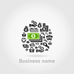 Business an icon subjects. A vector illustrationのイラスト素材 [FYI03088535]