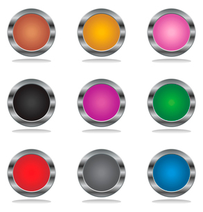 Buttons. Beautiful multi-coloured the button Internet. A vector illustrationのイラスト素材 [FYI03088567]