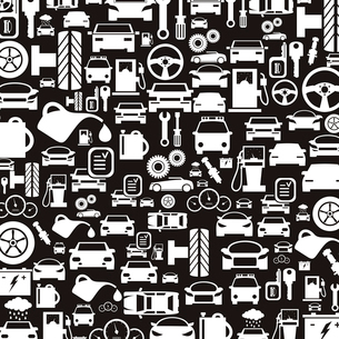 Background made of cars. A vector illustrationのイラスト素材 [FYI03088576]