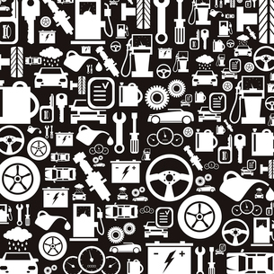 Background made of cars. A vector illustrationのイラスト素材 [FYI03088578]
