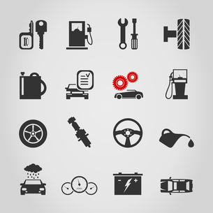 Set of icons transport. A vector illustrationのイラスト素材 [FYI03088586]