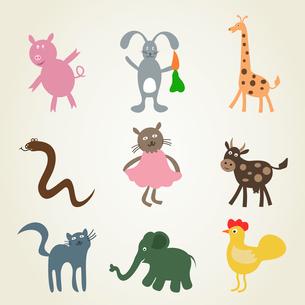 Set a cartoonof animals. A vector illustrationのイラスト素材 [FYI03088608]