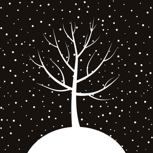White tree on a brown background. A vector illustrationのイラスト素材 [FYI03088661]