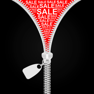 Clothes in the form of sale. A vector illustrationのイラスト素材 [FYI03088711]