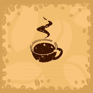 Coffee cup2. Coffee cup on a yellow background. A vector illustrationのイラスト素材 [FYI03088733]