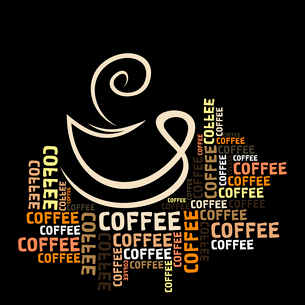 Coffee cup in words. A vector illustrationのイラスト素材 [FYI03088742]
