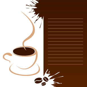 Coffee menu2. Mug of coffee for the coffee menu. A vector illustrationのイラスト素材 [FYI03088754]
