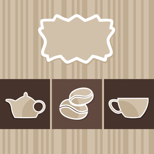 The menu with a coffee cup. A vector illustrationのイラスト素材 [FYI03088756]