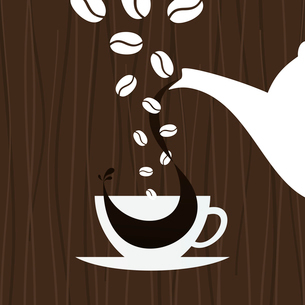 In a cup pour coffee. A vector illustrationのイラスト素材 [FYI03088760]