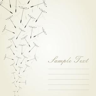 Dandelion seeds in flight. A vector illustrationのイラスト素材 [FYI03088854]