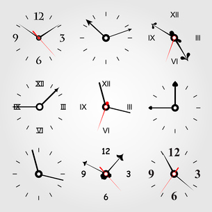Set of dials of hours. A vector illustrationのイラスト素材 [FYI03088875]