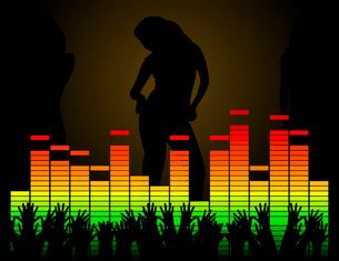 Disco2. Women dance in a disco. A vector illustrationのイラスト素材 [FYI03088879]