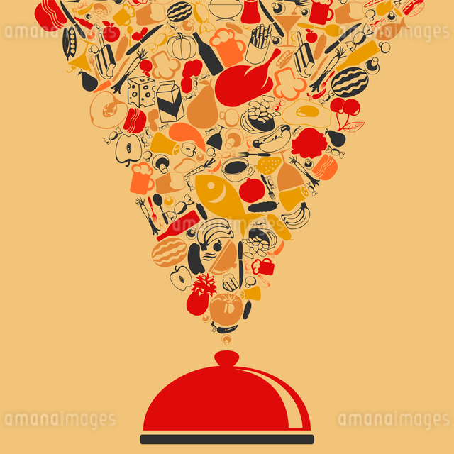 Meal take off from a dish. A vector illustrationのイラスト素材 [FYI03088884]