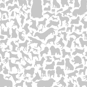 Background made of dogs. A vector illustrationのイラスト素材 [FYI03088888]